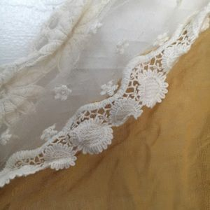 Lace and gauze scarf